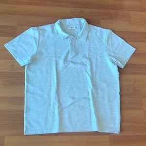 Reiss Short Sleeve Polo Shirt in Gray